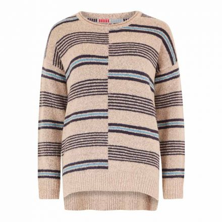 Weird Fish Niko Intarsia Stripe Knit Womens Jumper