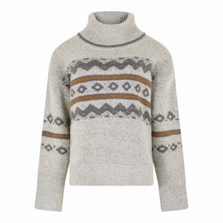 Weird Fish Edie Fairisle Popover Womens Knit Jumper