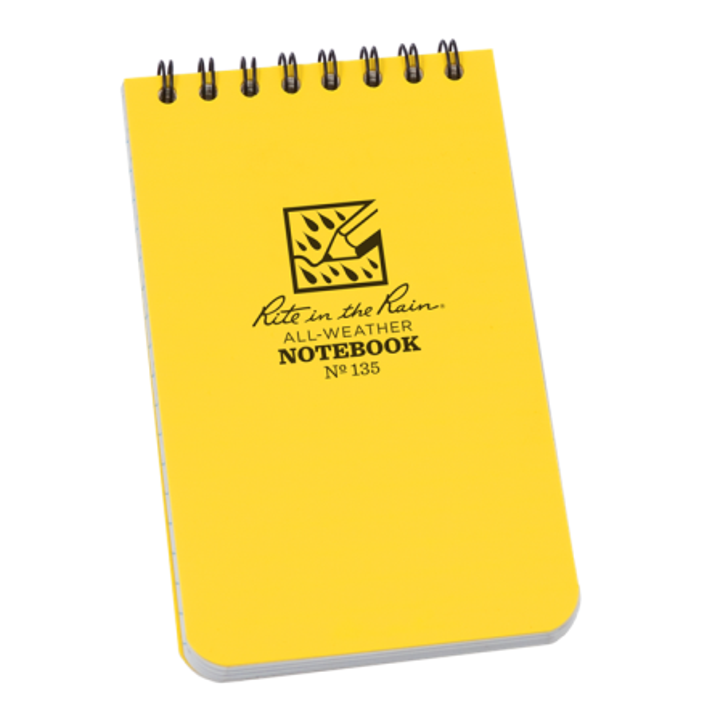 Rite In The Rain Waterproof Notebook 3x5