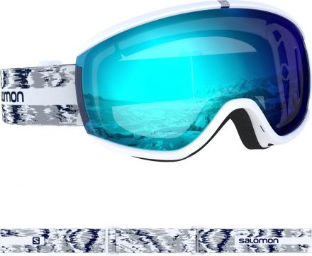 Salomon Womens IVY WHITE GLITCH/UNI Ski Goggles