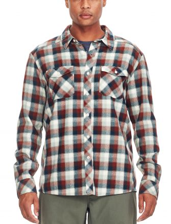 Icebreaker Lodge Men's Long Sleeve Checked Shirt