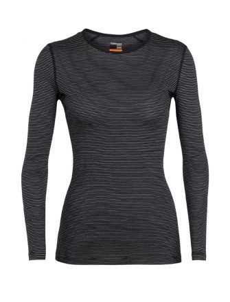 Icebreaker Womens 200 Oasis Long Sleeve Crewe Base Layer