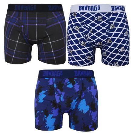 Bawbags Men's 3 Pack Scottish Boxer Shorts
