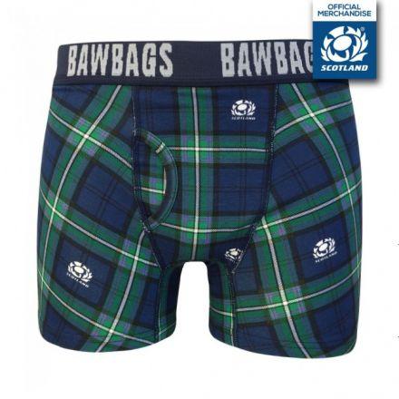 Bawbags Rugby Tartan Boxer Shorts