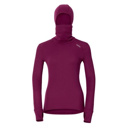 Odlo Womens Long Sleeve Crew With Face Mask