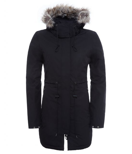 The North Face Womens Zaneck Padded Parka with Faux Fur Hood