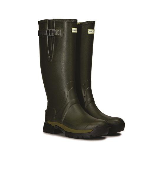 Hunter Mens Balmoral Side Adjustable 3mm Neoprene Wellington Boots