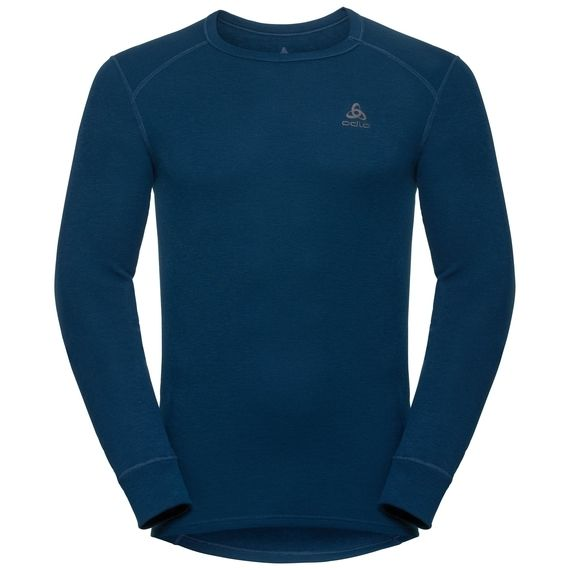 Odlo Men's Warm Long Sleeve Crew Neck Shirt