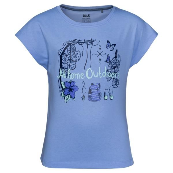 Jack Wolfskin Brand Girls T Shirt