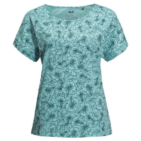 Jack Wolfskin Hibiscus Flower Womens T Shirt