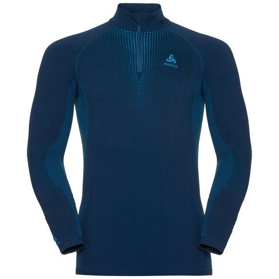 Odlo Mens Performance Warm Long Sleeve Half Zip Base Layer Top