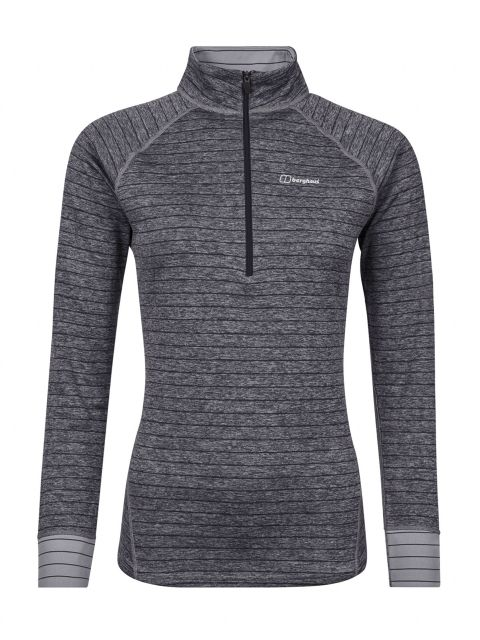 Berghaus Womens Thermal LS Zip Tech T Shirt