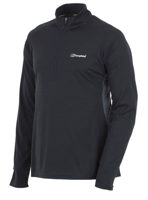 Berghaus Mens Long Sleeve Zip Neck Tech-T Top