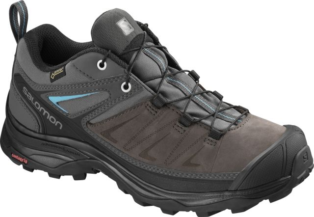 Salomon Womens X Ultra 3 Leather Gore-Tex Walking Shoes