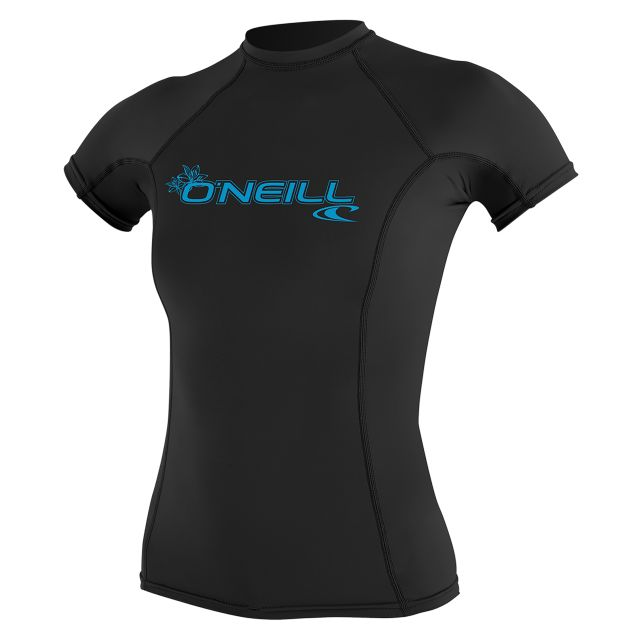 O'Neill Womens Basic Skins Short Sleeve Rash Guard