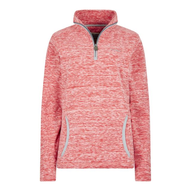 Weird Fish Womens Nancy 1/4 Zip Dyed Fleece