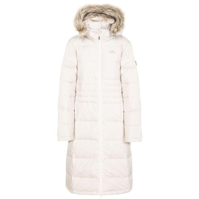 Trespass Women's Phyllis Long Parka Down Coat with Faux Fur Hood