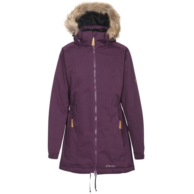 Trespass Womens Celebrity Waterproof Parka Jacket with Faux Fur Hood