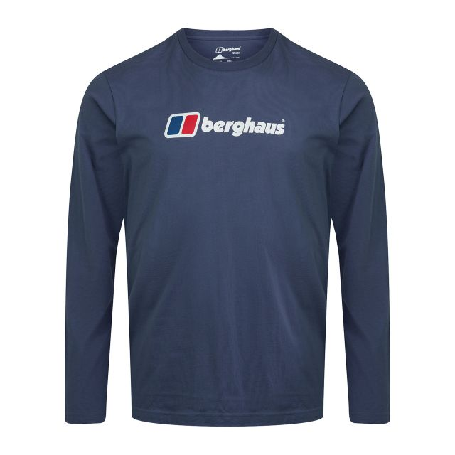 Berghaus Mens Big Corporate Logo Long Sleeve T Shirt