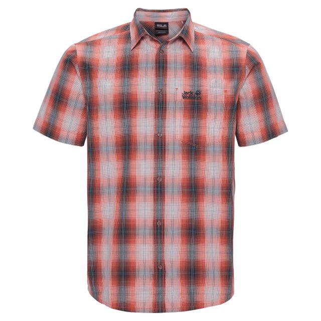 Jack Wolfskin Hot Chili Mens Checked Shirt