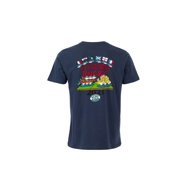 Weird Fish Mens Fish Nations 21 T Shirt