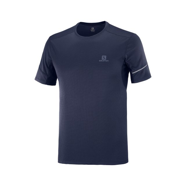Salomon Mens Agile Navy Short Sleeve T Shirt
