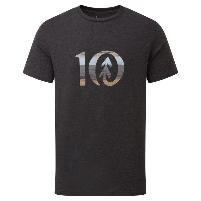Tentree Spruce Mens Stripe T Shirt