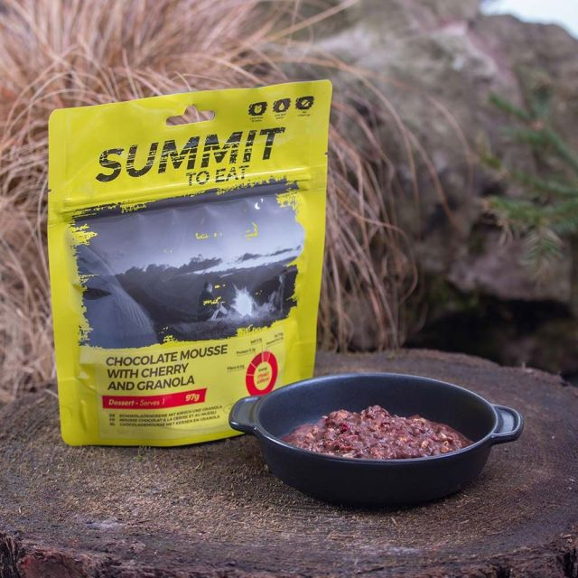 Summit To Eat Chocolate Mousse with Granola & Cherry Camping Food