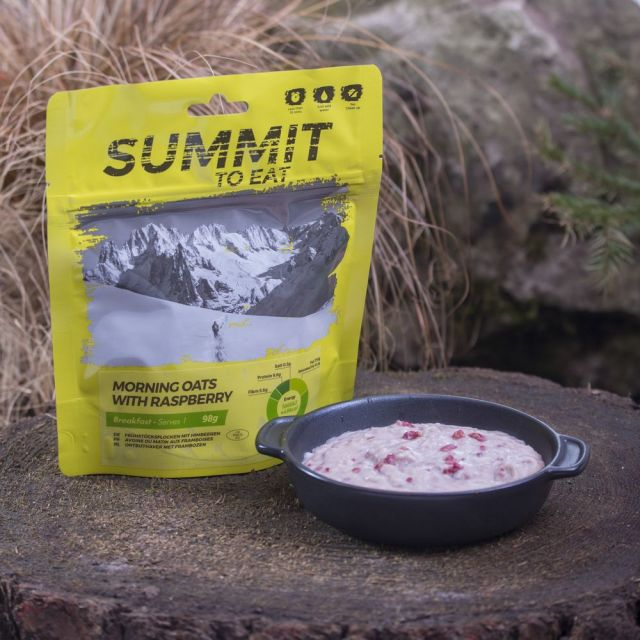 Summit To Eat Morning Oats with Raspberry Camping Food