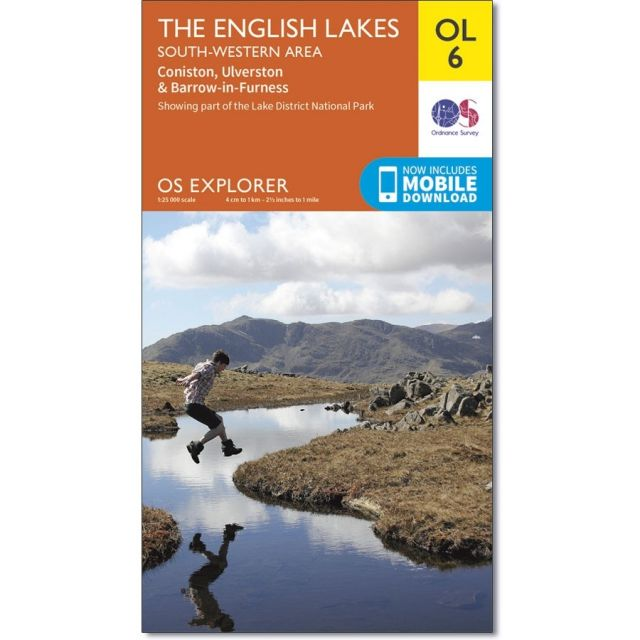 OL6 Active Map English Lakes - South-western area Ordnance Survey