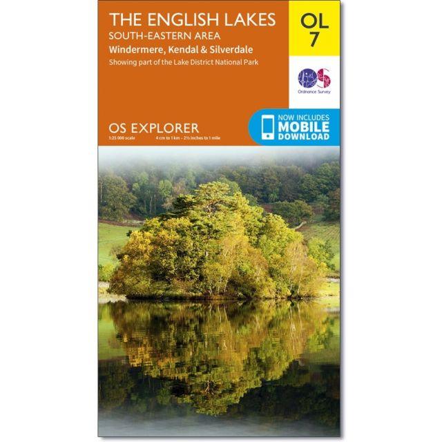 OL7 Active Weatherproof Map English Lakes - South-eastern area Ordnance Survey