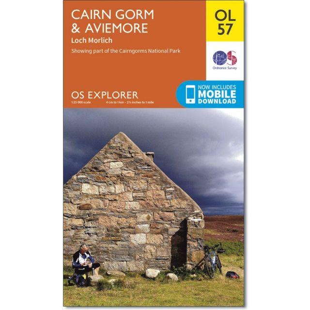 OL57 Active Weatherproof Map Cairn Gorm and Aviemore Ordnance Survey