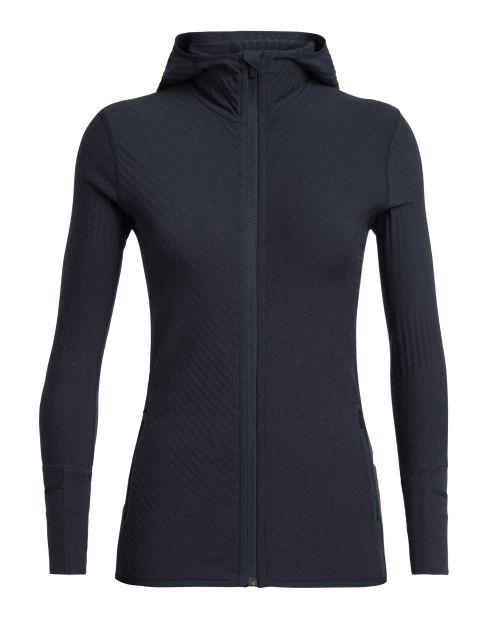 Icebreaker Womens Descender Long Sleeve Zip Hoodie