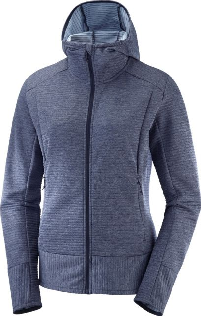 Salomon Womens Right Nice Mid Hooded Fleece