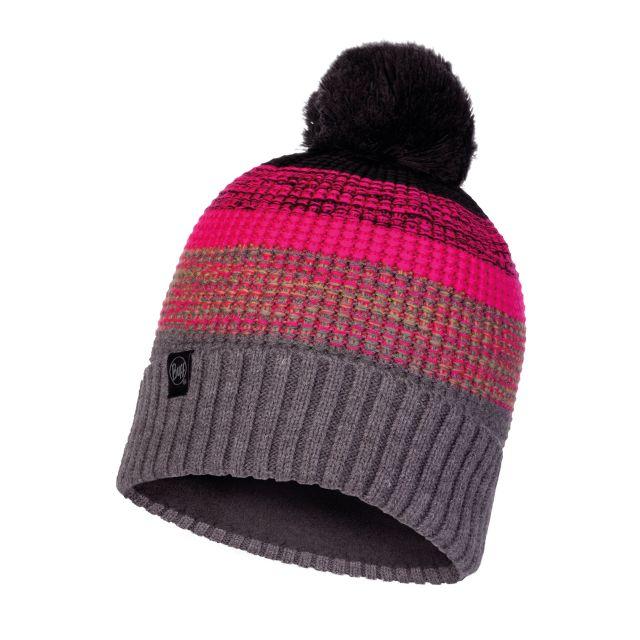 Buff Alyona Melange Grey Knitted Polar Hat