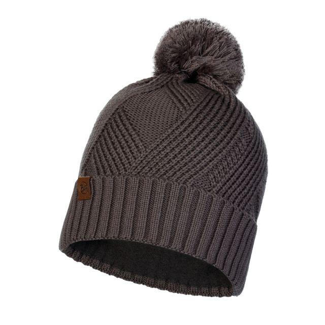 Buff Raisa Grey Castlerock Knitted Polar Hat