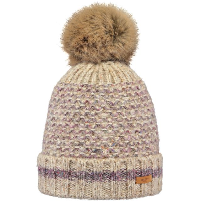 Barts Womens Hosta Turn Up Bobble Hat