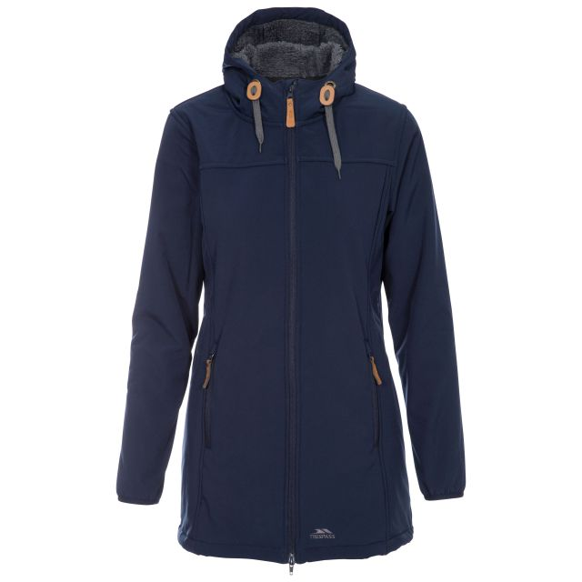 Trespass Womens Kristen Long Hooded Softshell Jacket
