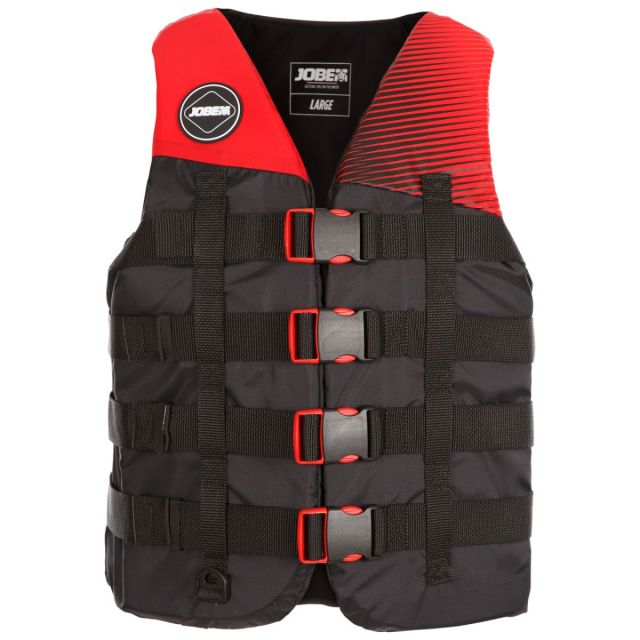 Jobe Adult Unisex 4 Buckle Red Life Vest
