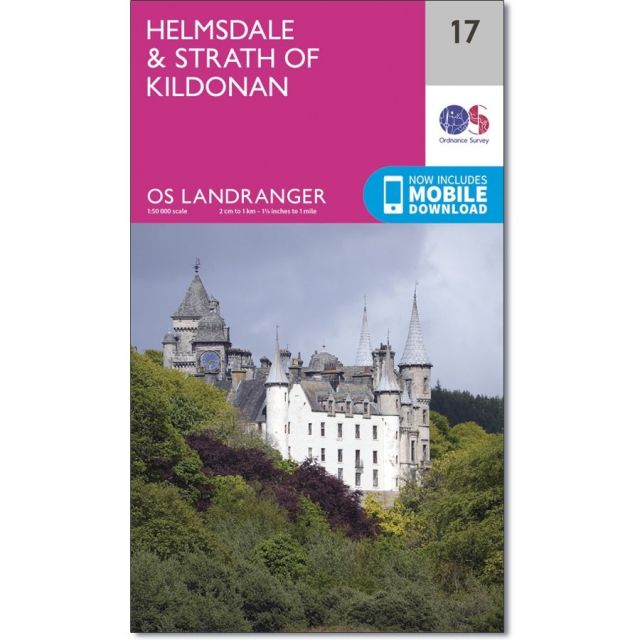 Landranger 17 Map of Helmsdale & Strath of Kildonan - Ordnance Survey