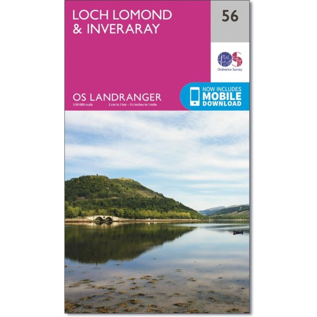 Landranger 56 Map of Loch Lomond & Inveraray