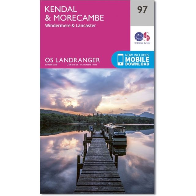 Landranger 97 Map of Kendal & Morecambe