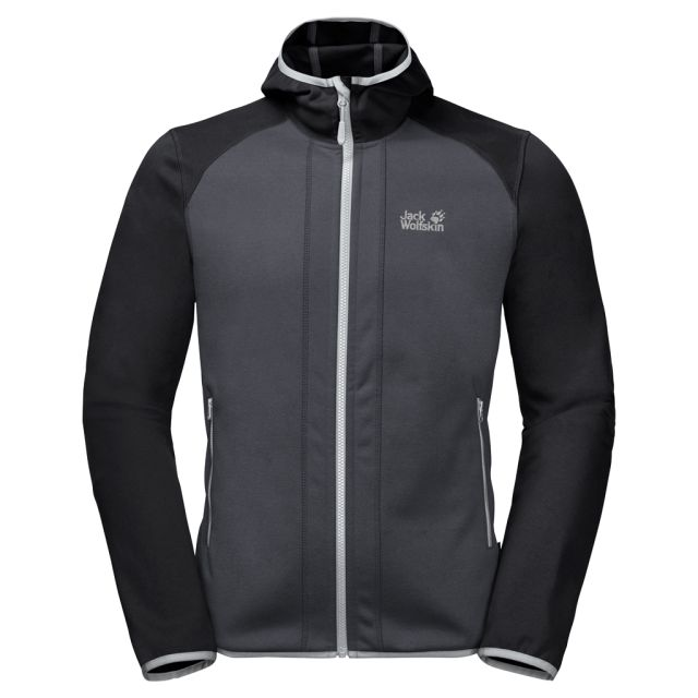 Jack Wolfskin Mens Hydro Hooded Fleece Jacket