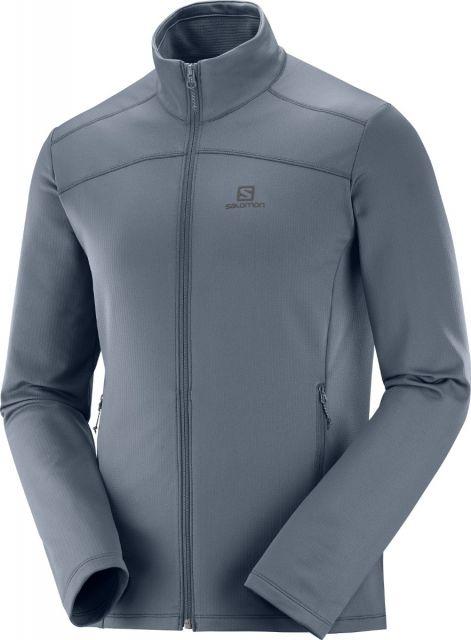 Salomon Mens Discovery Lightweight Zip Fleece