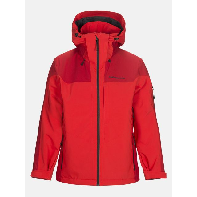 Peak Performance Mens Maroon Race Jacket