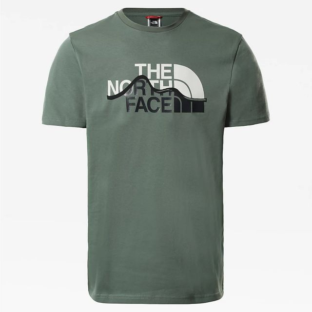 The North Face Mountain Line Mens Short Sleeve T Shirt