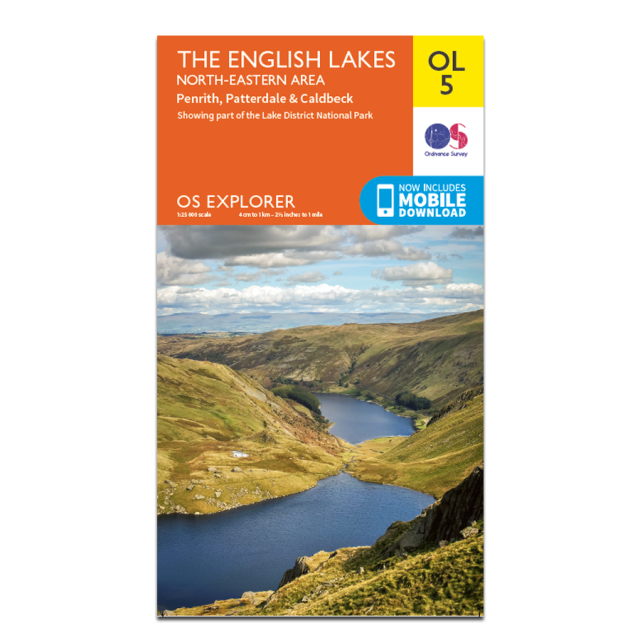 OL5 Active Map English Lakes North-Eastern Area Ordnance Survey