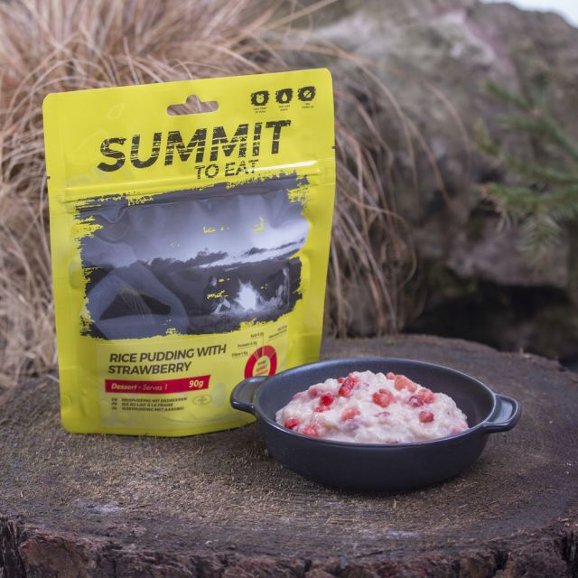 Summit To Eat Rice Pudding with Strawberry Camping Food