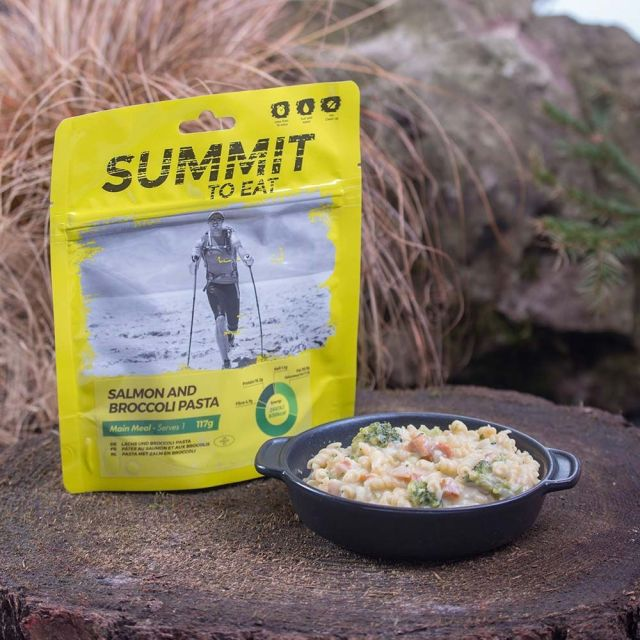 Summit To Eat Salmon and Broccoli Pasta Camping Food