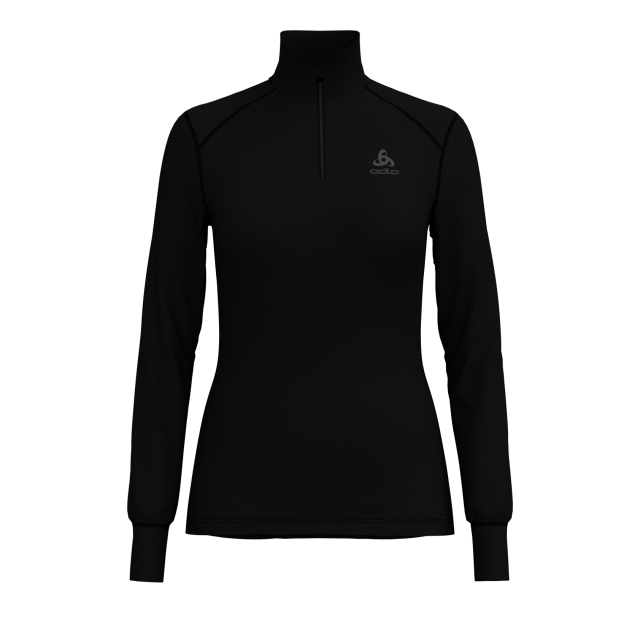 Odlo Womens Warm Half Zip Long Sleeve Turtle Neck